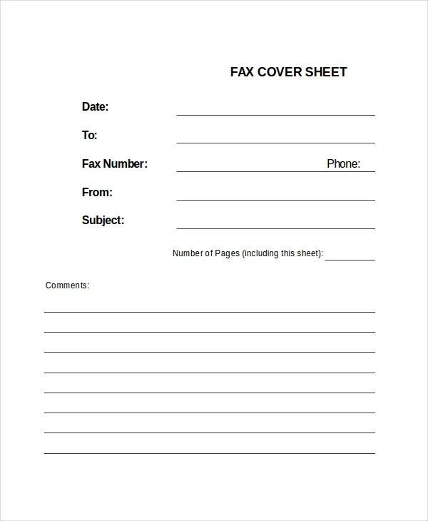 fax cover sheet doc