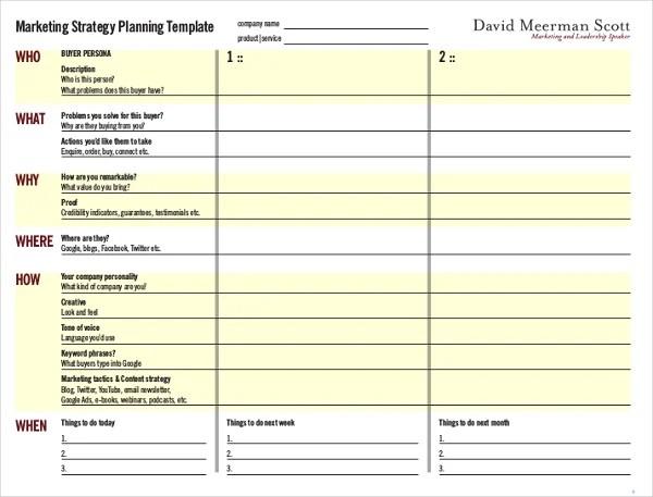strategic marketing plan template - Onwebioinnovate