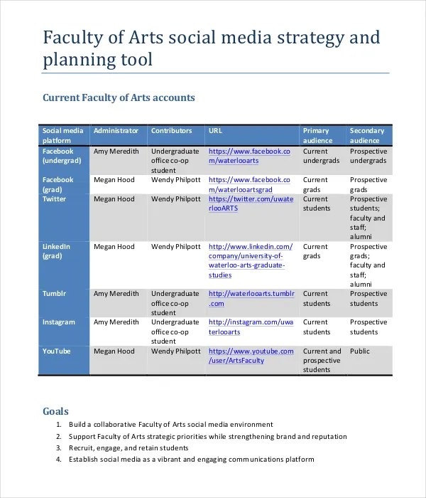 Marketing Strategy Plan Template - 12+ Word, PDF Documents Download