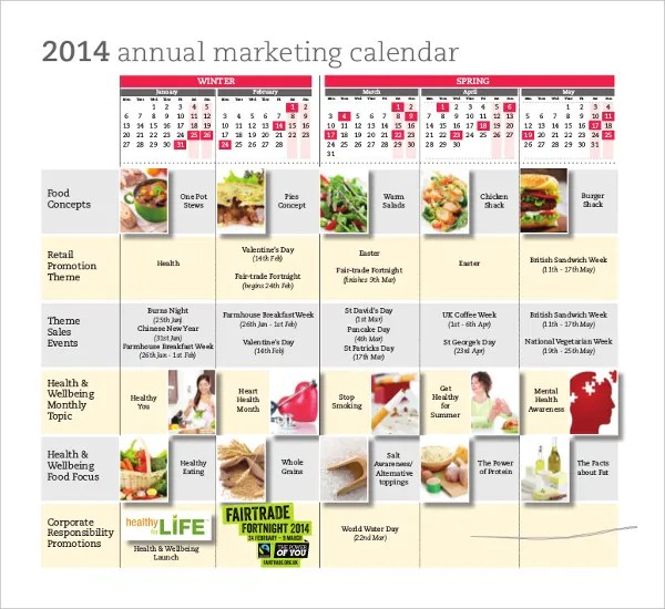 Marketing Calendar Template - 3 Free Excel Documents Download Free