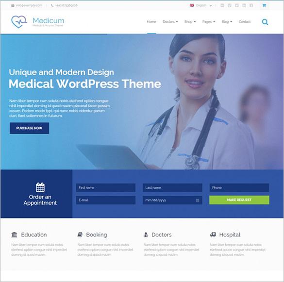 40+ Medical WordPress Themes  Templates Free  Premium Templates