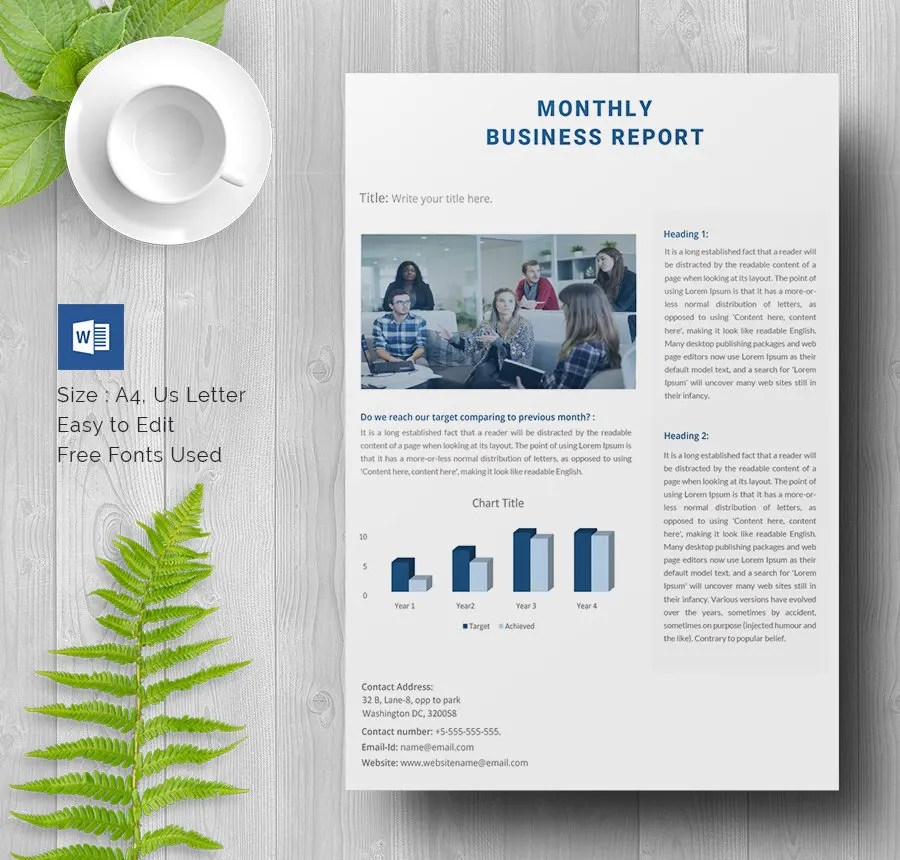 35+ Business Report Template - Free Sample, Example, Format Download - business report templates