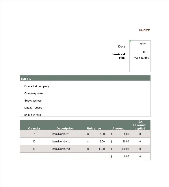 16+ Sales Invoice Templates - Free Word, Excel, PDF Download Free