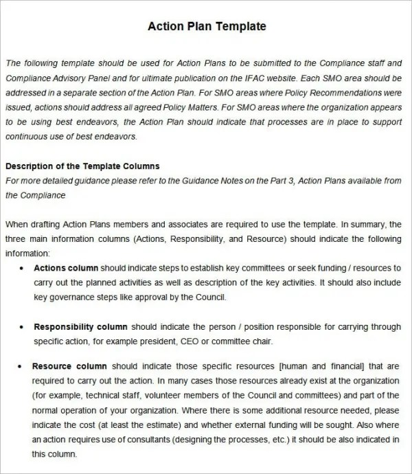 Action Plan In Pdf Action Plan Template Emergency Corrective - Example Of An Action Plan Template