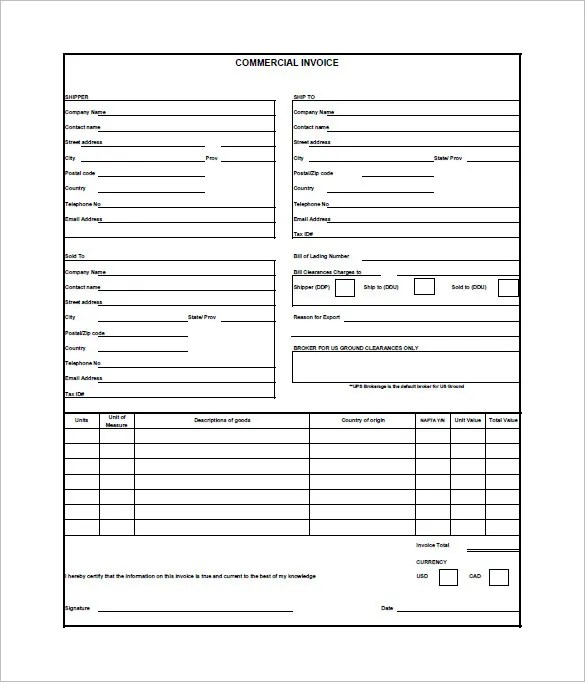 Download Shipping Commercial Invoice  RabitahNet