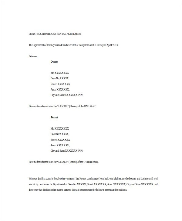 Basic Rental Agreement u2013 10+ Free Word, PDF Documents Download - free tenant agreement