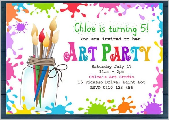 Birthday Party Invitation Template Free \u2013 orderecigsjuiceinfo
