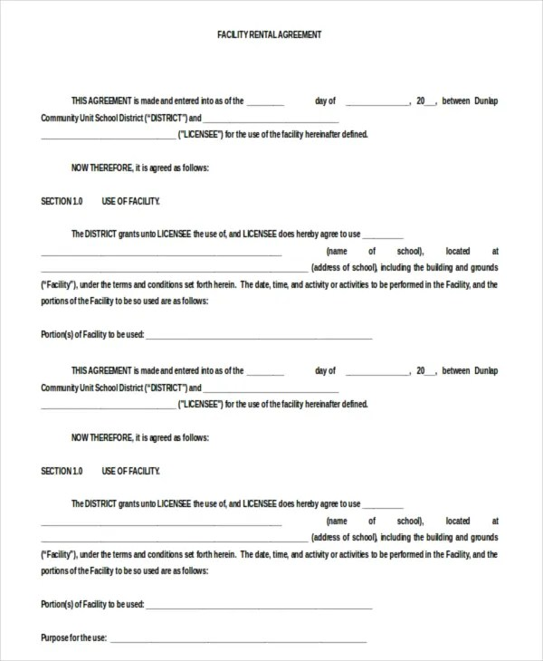 Blank Rental Agreement \u2013 9+ Free Word, PDF Documents Download Free - free blank lease agreement forms