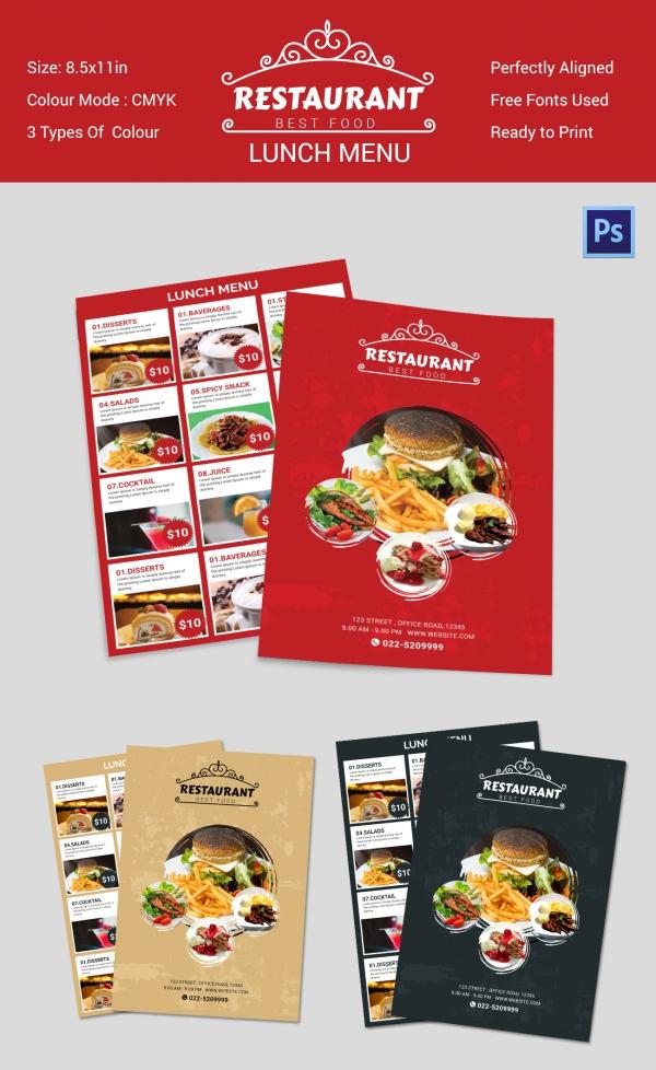 lunch menu template word - Josemulinohouse - lunch menu template free