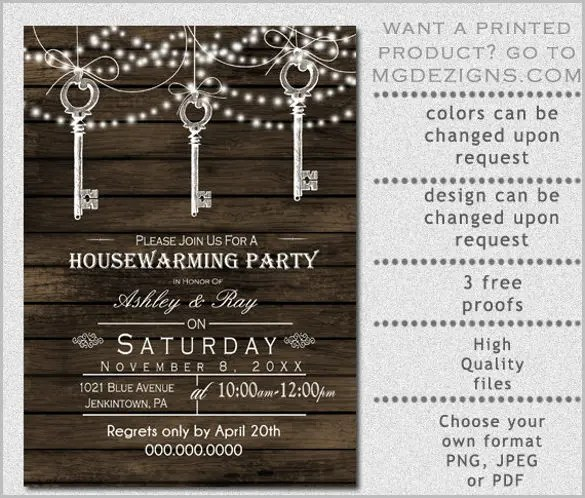 Housewarming Invitation Template - 31+ Free PSD, Vector EPS, AI - invitation templates free online