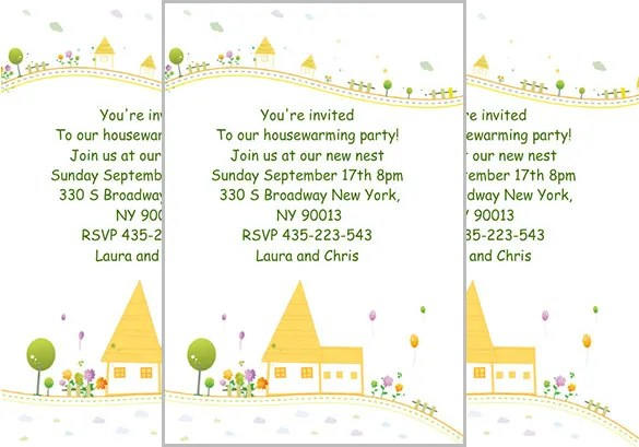 Housewarming Invitation Template 32 Free Psd Vector