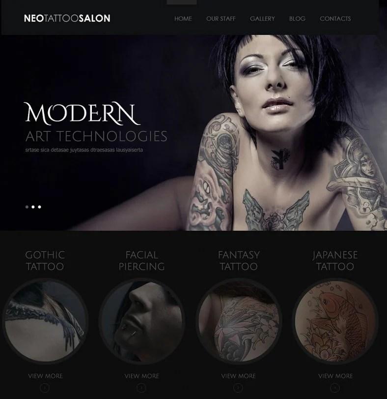 12+ Tattoo Artists WordPress Themes  Templates Free  Premium