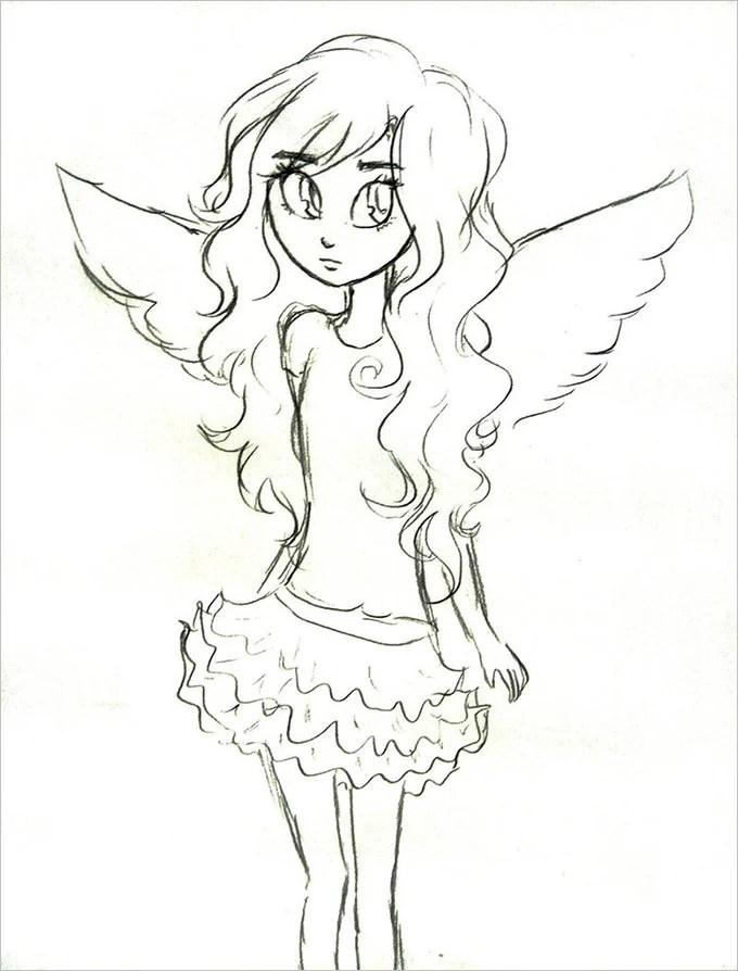 30+ Angel Drawings - Free Drawings Download Free  Premium Templates