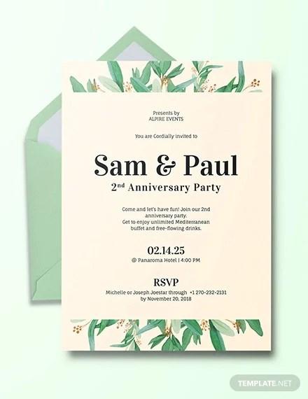 23+ Wedding Anniversary Invitation Card Templates - Word, PSD, AI