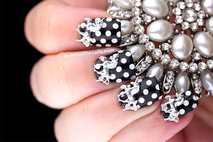 25 Beautiful Black And White Nail Art Designs With