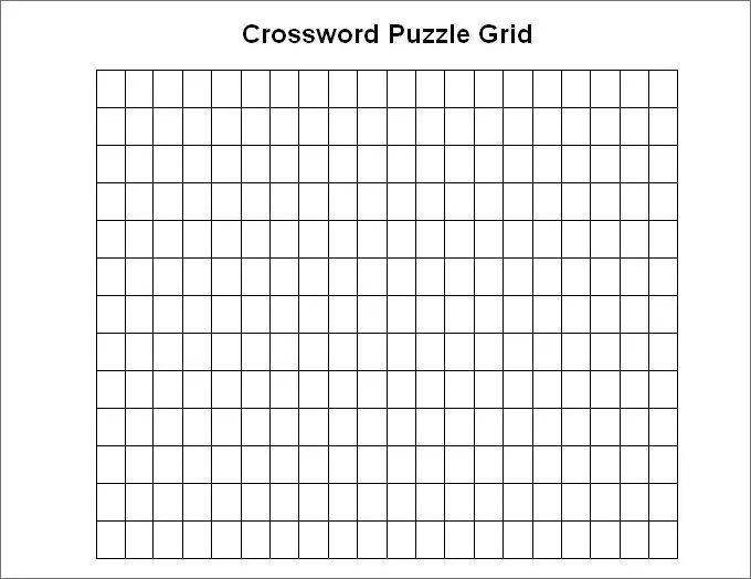 Blank Crossword Template - Crossword Template Free  Premium Templates