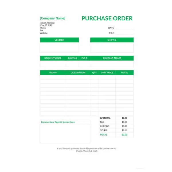 53+ Purchase Order Examples - PDF, DOC Free  Premium Templates