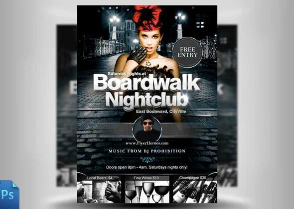 30 Fabulous Night Club Flyer Templates  PSD Designs! Free