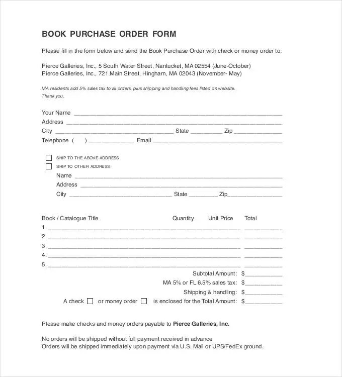 Purchase Order Template - 36+ Free Word, Excel, PDF Documents - money order form
