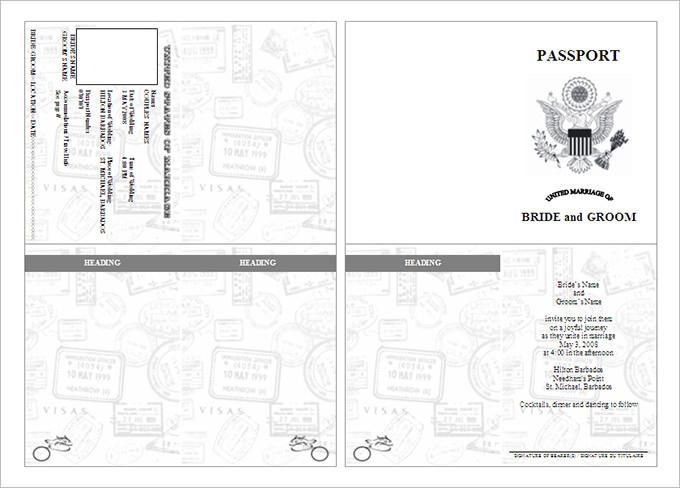 Passport Template For Students Gallery - Template Design Ideas - passport template