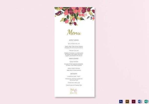 Wedding Menu Templates - 52+ Free Word, PDF, PSD, EPS Format