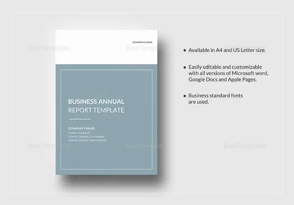 Annual Report Template - 40+ Free Word, PDF Documents Download