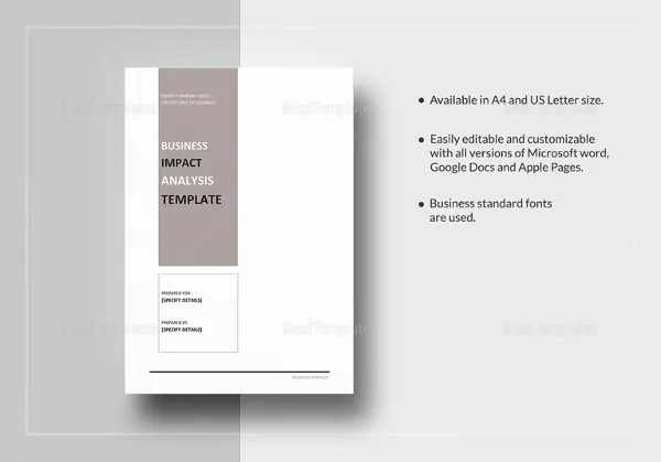 6+ Business Analysis Template - Free Word, Excel Documents Download