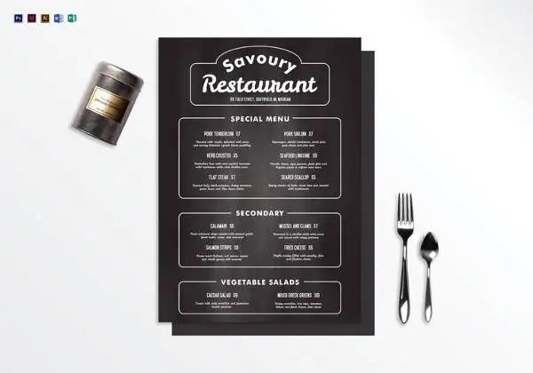 Chalkboard Menu Templates u2013 36+ Free PSD, EPS Format Download - free restaurant menu template word