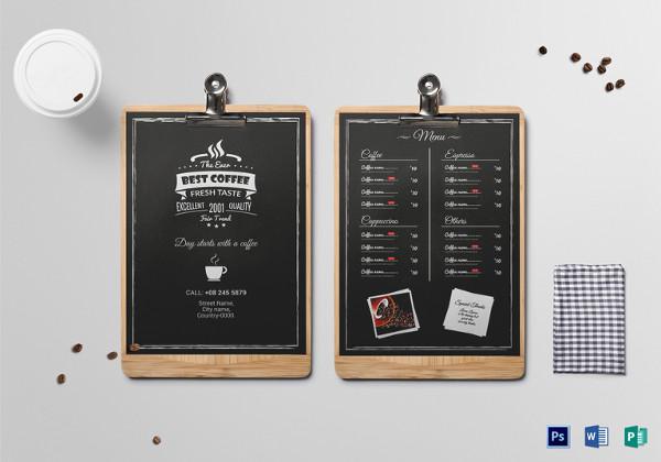 20+ Coffee Menu Templates \u2013 Free Sample, Example Format Download