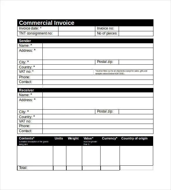 32+ Commercial Invoice Templates - Word, Excel, PDF,AI Free