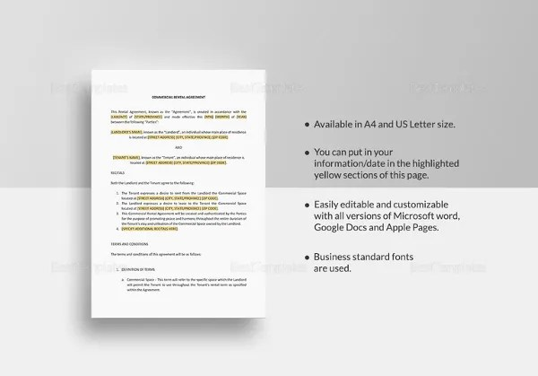 21+ Word Rental Agreement Templates Free Download Free  Premium