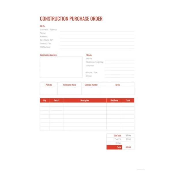 34+ Purchase Order Examples - PDF, DOC Free  Premium Templates - lpo format sample