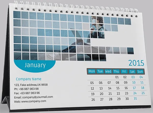 Desk Calendar Template \u2013 30+ Free PSD, AI, Indesign, EPS Formats