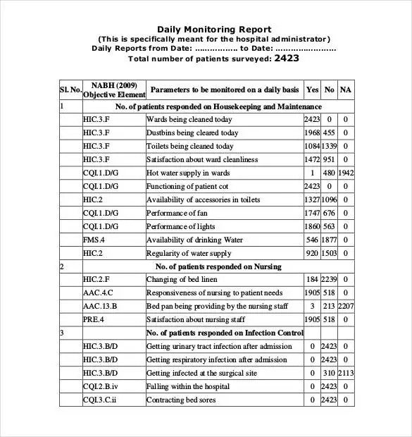 56+ Daily Report Templates - PDF, DOC, Excel Free  Premium Templates