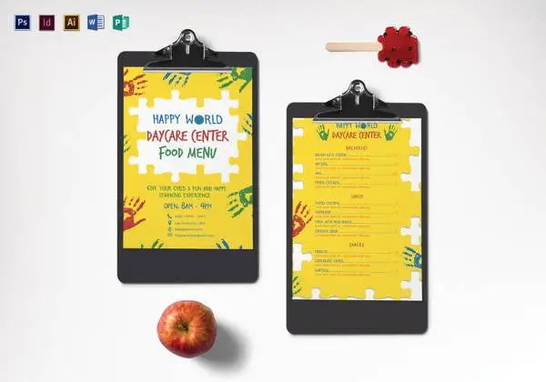 Daycare Menu Templates \u2013 11+ Free Printable,PDF Documents Download