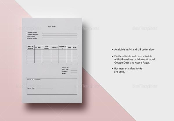 debit memo templates - powerhit-radio