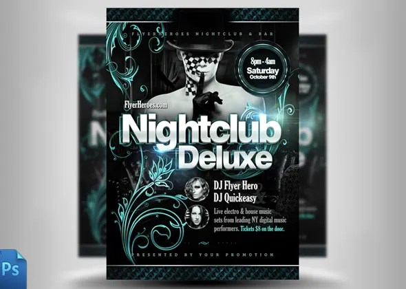 30 Fabulous Night Club Flyer Templates  PSD Designs! Free