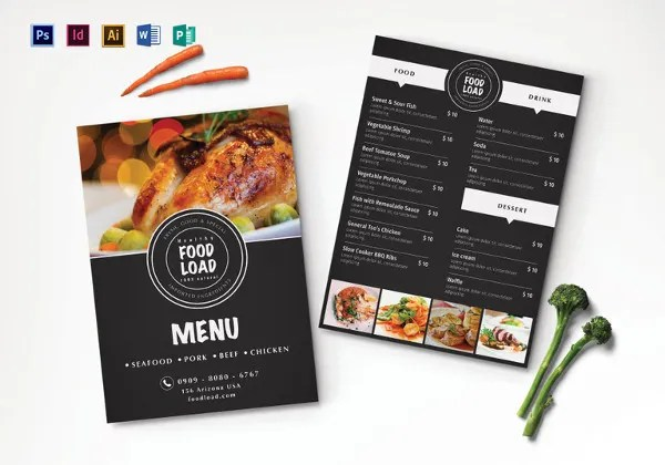 Dinner Menu Templates \u2013 36+ Free Word, PDF, PSD, EPS, InDesign - dinner party menu templates free download