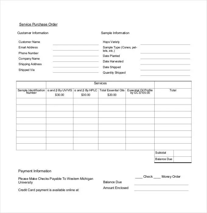 po template - Onwebioinnovate - local purchase order template