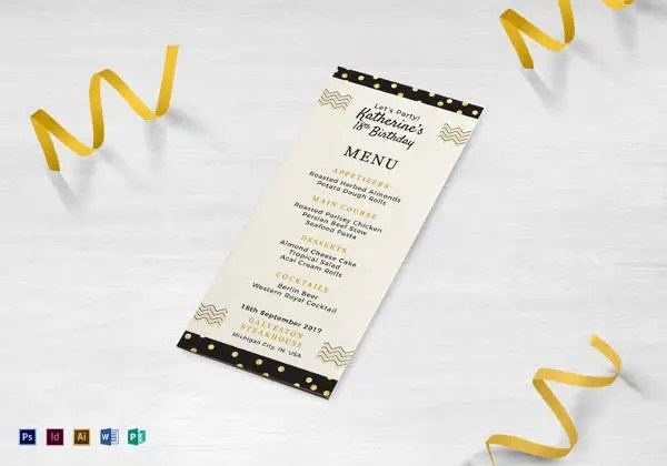30+ Dinner Menu Templates u2013 Free Sample, Example Format Download - dinner party menu template