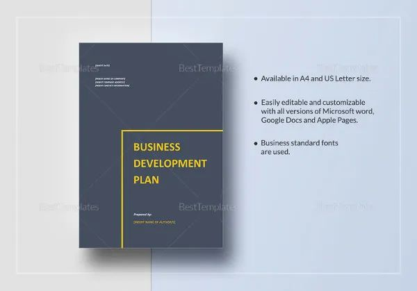 sample business plan templates free