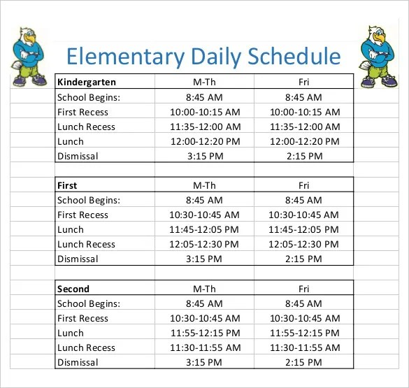 Daily Schedule Template - 37+ Free Word, Excel, PDF Documents - daily timetable template
