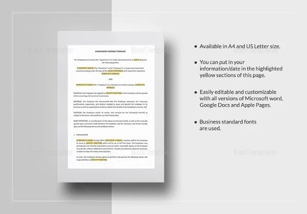 18+ Microsoft Word Contract Templates Free Download Free  Premium - microsoft word contract template free