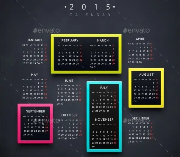 Event Calendar Templates - 16+ Free Download Free  Premium Templates
