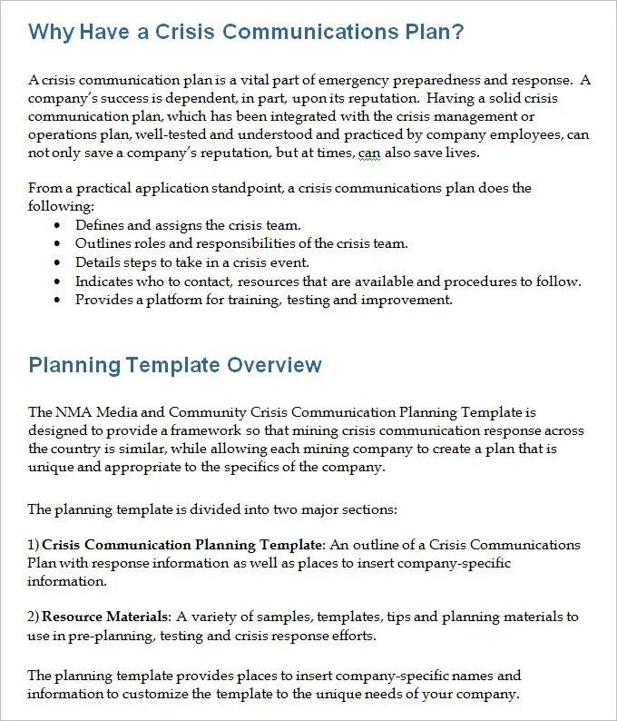Crisis Communication Plan Template - 4+ Free Word Documents Download