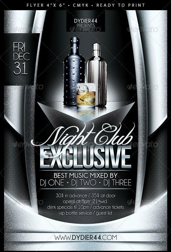 30 Fabulous Night Club Flyer Templates  PSD Designs! Free - club flyer background