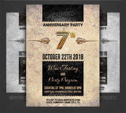 19+ Anniversary Invitation Template - Free PSD Format Download