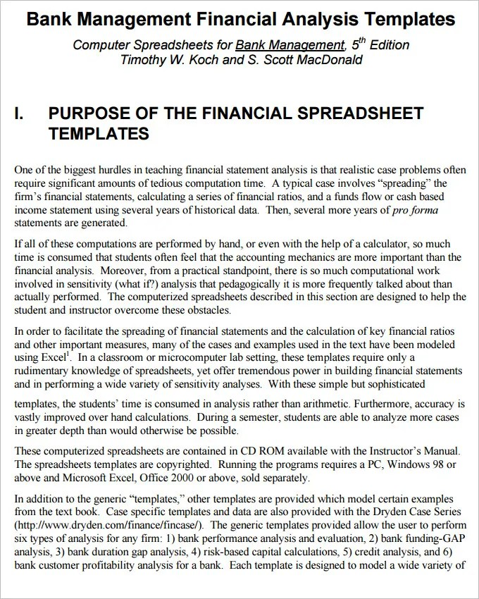 Financial Analysis Templates - 7+ Free Word, Excel, PDF Documents - microsoft income statement