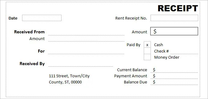 cash receipt format - Funfpandroid - Free Download Receipt Format In Excel