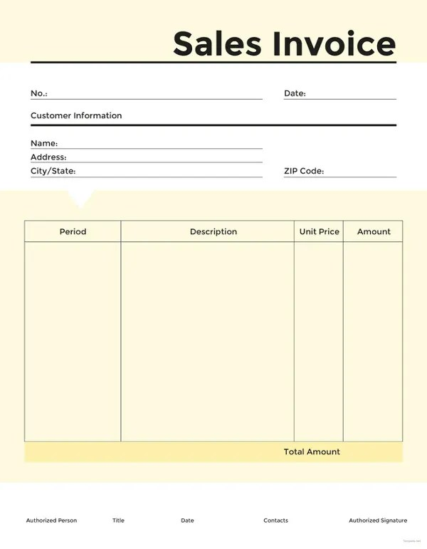 16+ Sales Invoice Template - Free Word Excel PDF Download Free